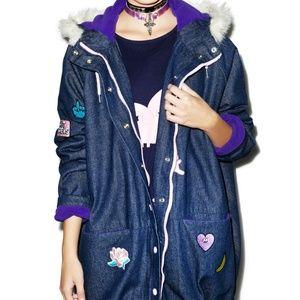 8d0bc7a4 Dupe - Lazy Oaf Denim Collection Parka Jacket